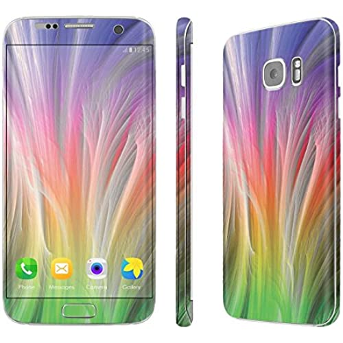 Galaxy [S7 Edge] Skin [NakedShield] Scratch Guard Vinyl Skin Decal [Full Body Edge] [Matching WallPaper] - [Rainbow Fiber] for Samsung Galaxy [S7 Sales