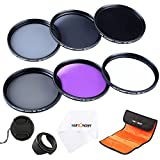 62MM Filter Kit Slim UV Slim CPL Slim FLD ND2 ND4 ND8 ND Neutral Density Circular Polarizing Set For + Lens Hood + Lens Cap + Cleaning Cloth+Filter Bag