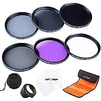 K&F Concept 52mm Lens Filter Set Slim UV Slim Circular Polarizing CPL Slim Neutral Density ND2 ND4 ND8 Lens Filter Kit for NIKON DSLR Cameras 18-55mm Lens
