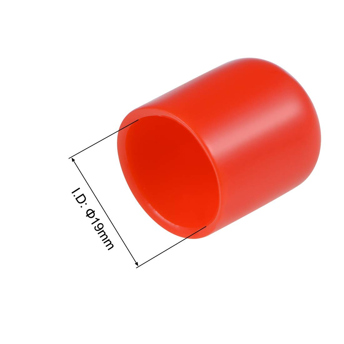 10pcs 3//4 inch ID Rubber end caps Round Cover lid Flexible Protective Screw caps Red