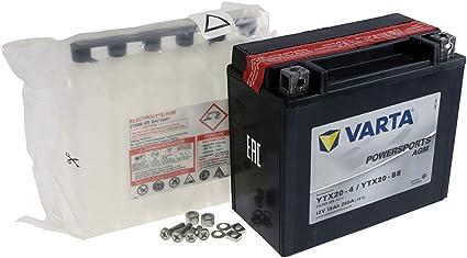 /4 Bater/ía VARTA POWER SPORTS AGM ytx20/de BS//ytx20/