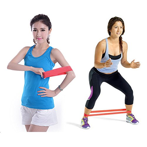 Exercise Bands Exercises Arms: Odoland Exercise Resistance Loop Bands-Physical Therapy