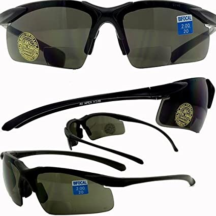 471ea8cb2272 Apex Bifocal Safety Glasses UV400 Magnifying Reading Eyewear 1.50 Magnifier  Smoke Lens - - Amazon.com