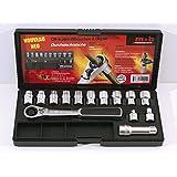 MOB Outillage 9400010001 Coffret de Douilles traversantes 10 à 19 mm 14 Pièces