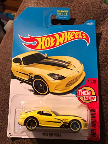 Hot Wheels 2017 Then and Now 2013 (Dodge) SRT Viper 199/365, Yellow