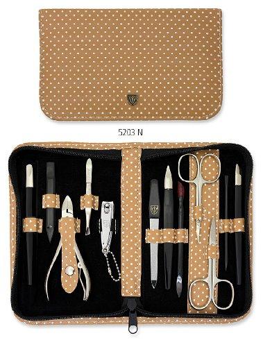 Drei Schwerter   Exklusives 12-teiliges Maniküre - Pediküre - Nagelpflege-Set / Etui   Qualität - Made in Solingen (520302)