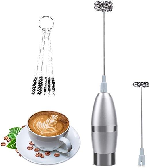 Latte Elektrischer Milchaufschäumer Stab Milchschäumer für Kaffee Cappuccino