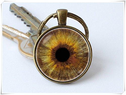 (Human eye keychain Eyeball keychain Eye)