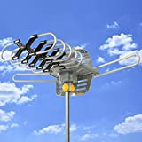 Best Choice Products HDTV Rotor Remote Outdoor Amplified Antenna 360° UHF/VHF/FM HD TV 150 Miles