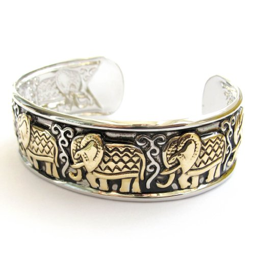 Exquisite Alloy Metal Elephant Bangle Bracelet