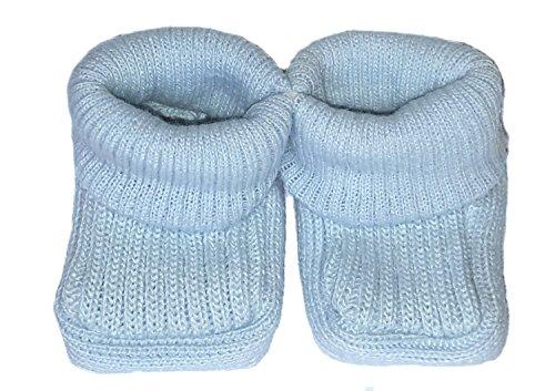 O de diseño de chicas nuevo con etiquetas funda de punto para unisex Bañador para bebé 100% patrones para patucos de acrílico 0-3 meses Azul