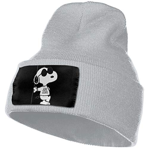 Eoinch Mens & Womens Snoopy Woodstock Skull Beanie Hats Winter Knitted Caps Soft Warm Ski Hat Gray