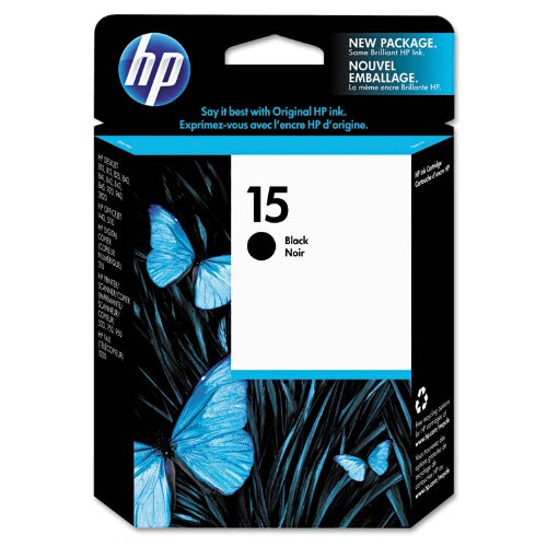 025184204570 - HP 15 Black Original Ink Cartridge (C6615DN) carousel main 0