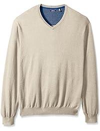 Men's Big and Tall Fine Gauge Solid V-Neck Sweater
