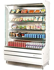 Turbo Air TOM50 50 Full Size Display Merchandiser with Efficient Refrigeration System Anti-Rust Coating Attractive Glass Sides Back-Guard and Fluorescent Lighting: