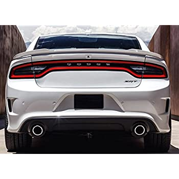 dodge charger 2015 white. 2015 2016 2017 dodge charger factory hellcat spoiler painted gloss black px8 white o