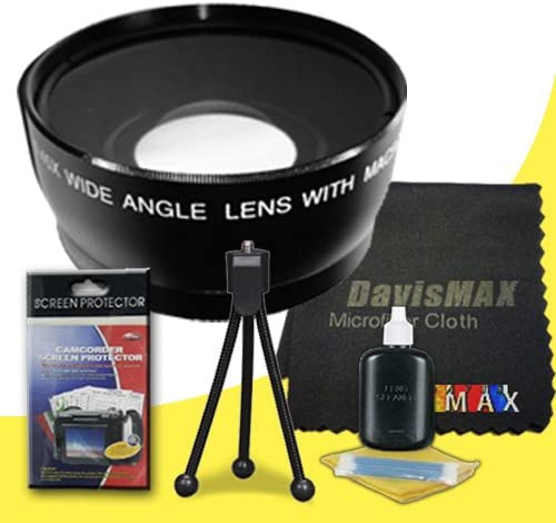 DavisMAX Fibercloth Deluxe Lens Bundle 58mm Wide Angle Lens for Canon EOS 70D with Canon 55-250mm Lens