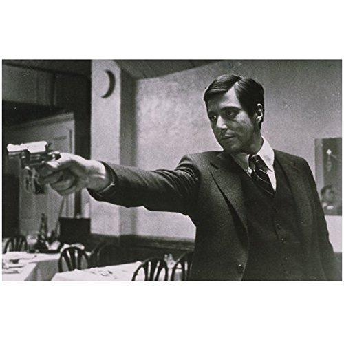 1972 B&w Photo - The Godfather (1972) 8 inch by 10 inch PHOTOGRAPH B&W Pic Al Pacino Aiming Gun kn