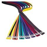 Macho Rank Karate Belts w/ Black Stripe