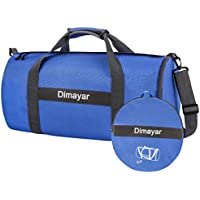 Dimayar Foldable Travel Duffle Bag for Gym Sports (Blue)