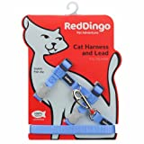 Red Dingo CH-ZZ-MB-SM Cat Harness & Lead Combo Classic Mid Blue