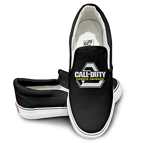 [EWIED Unisex Classic First-person Shooter Video Game Slip-On Shoes Black Size39] (Devil May Cry 3 Costumes)