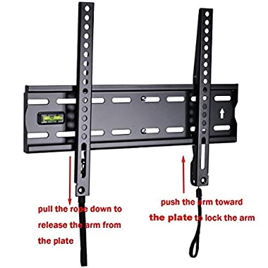 VideoSecu Ultra Slim TV Wall Mount for most 27 -47  LCD LED Plasma TV, Some up to 55  Flat Panel Screen Display with VESA 100x100 200x100 200x200 300x200 400x300 400x400 1  Low Profile TV Bracket 1RX