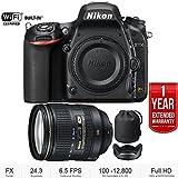 Nikon D750 24.3MP FX-Format Digital SLR Camera (Body Only) + 24-120mm f/4G ED VR AF-S NIKKOR Lens - (Certified Refurbished) with 1 Year Extended Warranty