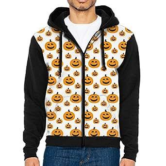 Funny Halloween Pumpkin Ghost 3d Raglan Hoodie Zip Pockets Colorblock Hooded Pullover 80s For Men
