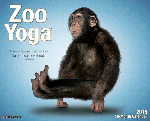 Zoo Calendar : Zoo yoga wall calendar fitness tracker