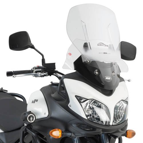 Air Flow Windshield Windscreen - Givi AF3101 Airflow Adjustable Wind Screen for Suzuki V-Strom 650 (2012-2016)