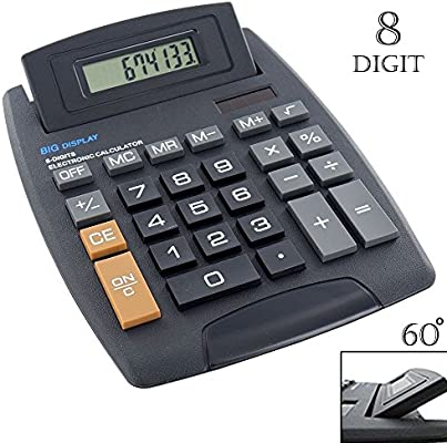 Jot 8-Digit Desktop Calculators Big Keys Large Jumbo Black