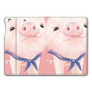 iPad Mini Case, iPad Mini Case Cover, Fashion Cute Design Flip PU Leather Smart Stand Case, Automatic Wake/ Sleep Function Full Body Protective Case Cover for iPad Mini Lovely Pink Pig [Compatible with iPad Mini with Retina Display] by supermalls