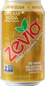 Zevia All Natural Soda, Cream Soda, 12-Ounce Cans (Pack of 24)