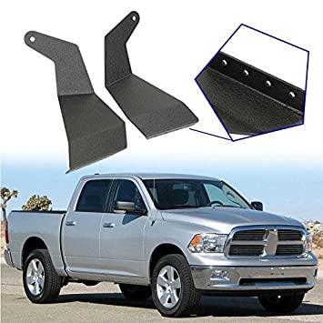 Amazon auxmart 52 upper windshield mounting brackets auxmart 52 upper windshield mounting brackets straight light bar for 2009 2014 dodge aloadofball Gallery