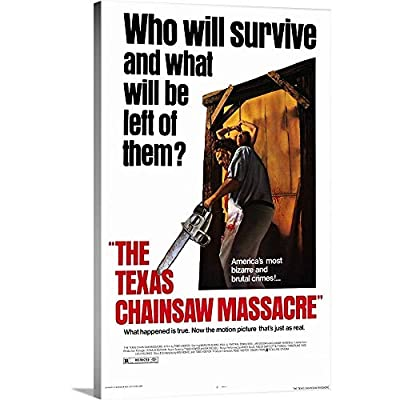 Premium Thick-Wrap Canvas Wall Art Print Entitled The Texas Chainsaw Massacre (1974)