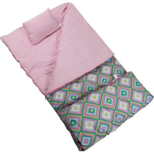 Wildkin Pink Retro Sleeping Bag, Outdoor Stuffs