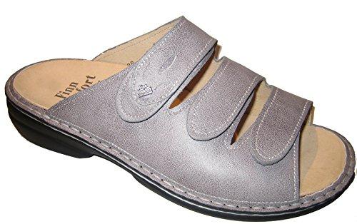 Finn Comfort - Zuecos de Piel Lisa para mujer gris gris