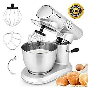 Stand Mixer, 650W, Food Mixer, Kitchen Electric Mixer with 6-Speed Control, 5.5L Bowl, Dough Hook, Whisk, Beater