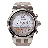 Mulco Blue Marine infinity Quartz Multifuncion Movement Women's watch | Mother of Pearl Sundial Rose Gold Accents | Taupe Watch Band | Water Resistant Watch MW5-4721-223