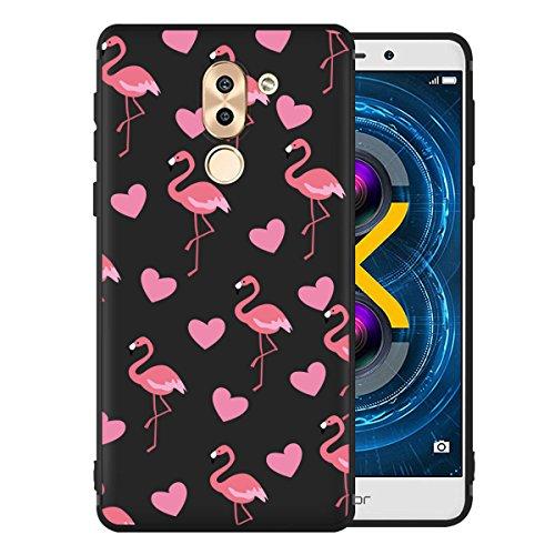 Funda para Huawei Mate 9 Lite / Honor 6X , IJIA Puro Negro Familia De Gato TPU Silicona Suave Cover Tapa Caso Parachoques Carcasa Cubierta Case para Huawei Mate 9 Lite / Honor 6X (5.5) Black-WM112