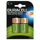 Duracell Rechargeable C Size Batteries, 2 Batteries