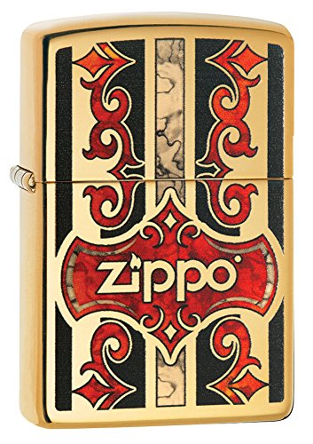 Zippo Fusion Logo High Polish Brass Pocket Lighter
