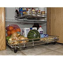 Shelf on Wheels Expandable Kitchen Pantry Roll Out with Wheels