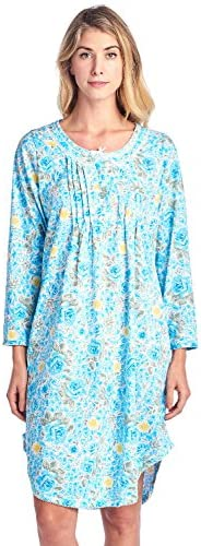 Casual Nights Women's Round Neck Long Sleeve Lace Floral Night