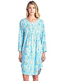 Casual Nights Women's Round Neck Long Sleeve Lace Floral Nightgown