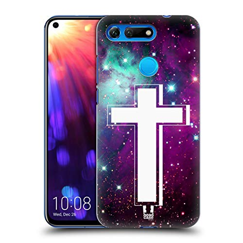Head Case Designs Nebula Cross Prints Hard Back Case Compatible for Huawei Honor View 20 / V20