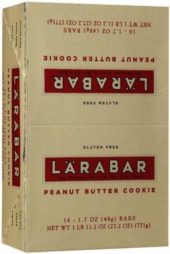 "LARABAR Natural Food Bars, Peanut Butter Cookie, 1.7 oz, 16 pk by LÃ""RABAR"