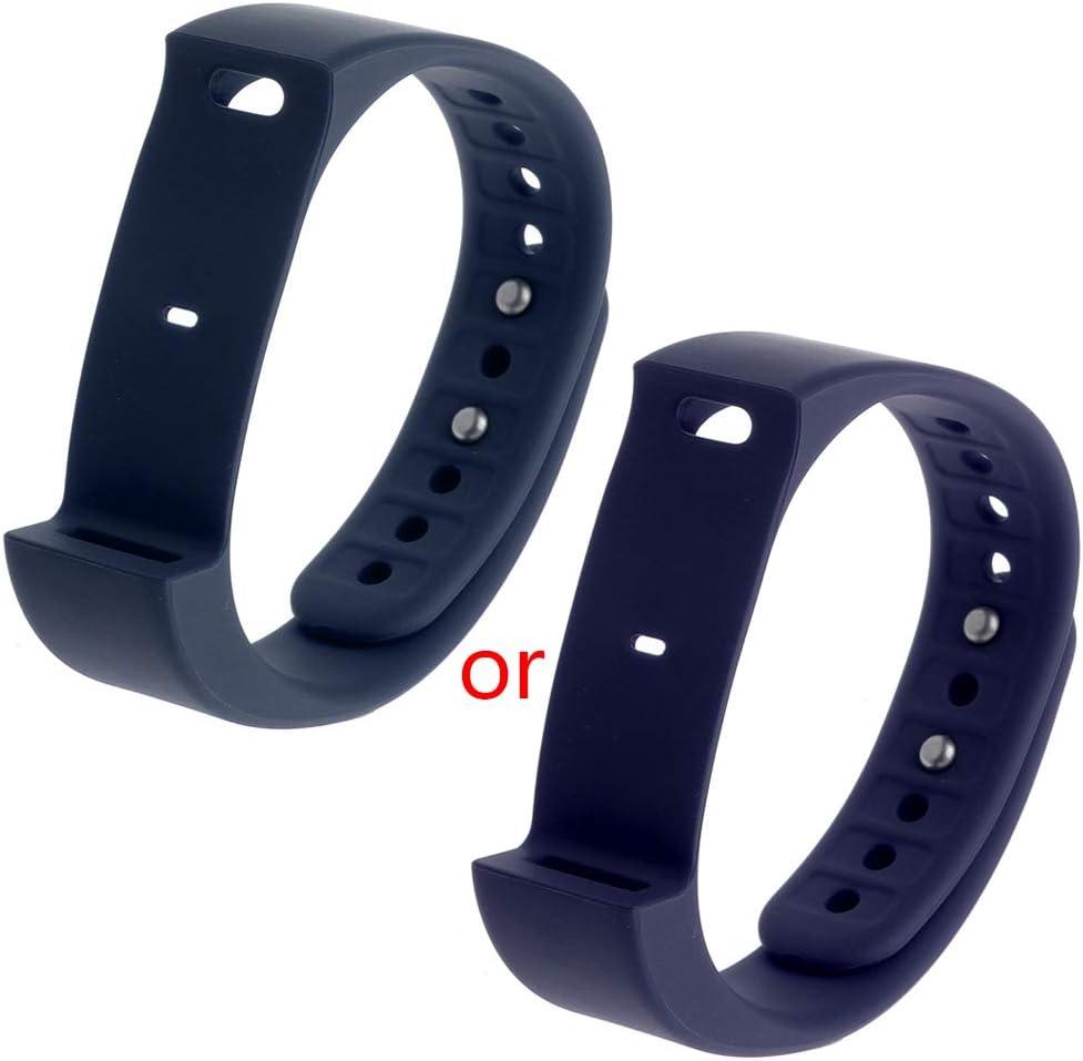 Gjyia Polsino di Ricambio per Cinturino in TPU Iwown i5 Plus Sports Smart Bracelet BK Blu