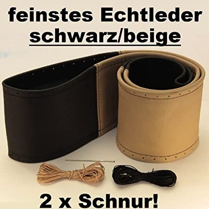 Lenkradbezug schwarz L Leder perforiert 40-41 cm zum Schn/üren Lenkrad Schoner